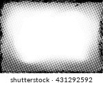 grunge black and white vector... | Shutterstock .eps vector #431292592