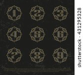 vector numbers. royalty gold... | Shutterstock .eps vector #431295328