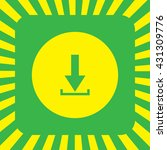 vector icon of download. flat...