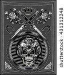 vintage label. skull dagger... | Shutterstock .eps vector #431312248