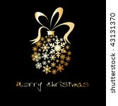 christmas ball made from golden ... | Shutterstock .eps vector #43131370