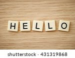 hello word blocks | Shutterstock . vector #431319868