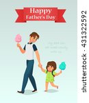 father and daughter eat the... | Shutterstock .eps vector #431322592
