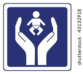 baby care sign vector | Shutterstock .eps vector #43132918
