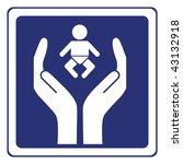 baby care sign vector | Shutterstock .eps vector #43132918