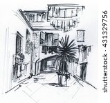 marker sketch of a street in... | Shutterstock . vector #431329756