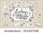 cooking recipes   calligraphic... | Shutterstock .eps vector #431337208