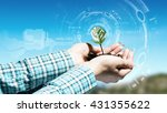 nature and technology... | Shutterstock . vector #431355622