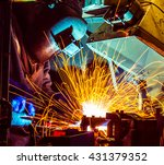 welder industrial automotive... | Shutterstock . vector #431379352
