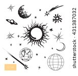 vector illustration. cute space ... | Shutterstock .eps vector #431387032