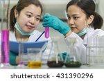 chemist  in the lab  scientist | Shutterstock . vector #431390296