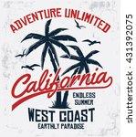 california typography for t... | Shutterstock .eps vector #431392075