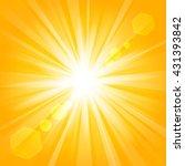 golden shine with lens flare...   Shutterstock .eps vector #431393842