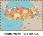turkey vintage color map with... | Shutterstock .eps vector #431406466