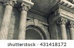classic corinthian pillars arc. ... | Shutterstock . vector #431418172