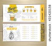 beer  bar menu design.  | Shutterstock .eps vector #431420158