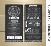 vintage chalk drawing beer menu ... | Shutterstock .eps vector #431420446