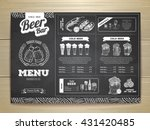 vintage chalk drawing beer menu ... | Shutterstock .eps vector #431420485