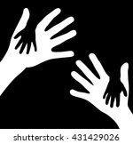 hands outline concept | Shutterstock .eps vector #431429026