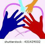 hands outline concept | Shutterstock .eps vector #431429032