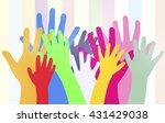dancing hands crowd vector | Shutterstock .eps vector #431429038