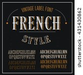 . vintage vector font for... | Shutterstock .eps vector #431430862