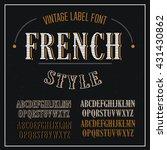 . vintage vector font for... | Shutterstock .eps vector #431430862