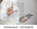 geographic information systems... | Shutterstock . vector #431433832