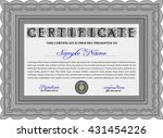 certificate template or diploma ... | Shutterstock .eps vector #431454226