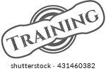 training pencil strokes emblem | Shutterstock .eps vector #431460382