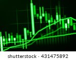 abstract candlestick chart on... | Shutterstock . vector #431475892