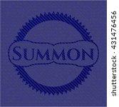 summon badge with denim texture | Shutterstock .eps vector #431476456