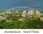 Beautiful Rainbow In Thailand.