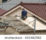 renovation of the roof | Shutterstock . vector #431482582