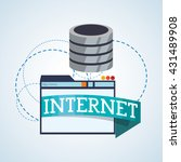 internet design. online icon.... | Shutterstock .eps vector #431489908