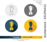blender icon vector design | Shutterstock .eps vector #431496412