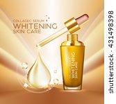 collagen serum background... | Shutterstock .eps vector #431498398