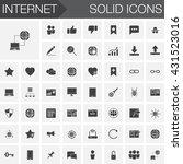 internet vector icons set ... | Shutterstock .eps vector #431523016