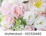bouquet of multi colored... | Shutterstock . vector #431526682