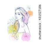 beautiful fashion women with...   Shutterstock .eps vector #431527186