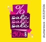 sale vector banner.  vector... | Shutterstock .eps vector #431529106