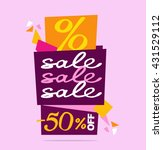 sale vector banner. vector... | Shutterstock .eps vector #431529112