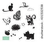 vector illustration. cute... | Shutterstock .eps vector #431532538