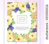 invitation with floral... | Shutterstock .eps vector #431532616