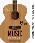 music festival poster. acoustic ... | Shutterstock .eps vector #431539186