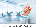 benchmarking and market leader... | Shutterstock . vector #431541166