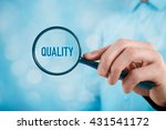 focused on quality concept.... | Shutterstock . vector #431541172