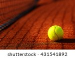 tennis court with tennis ball... | Shutterstock . vector #431541892