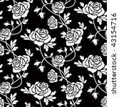 white roses at black | Shutterstock .eps vector #43154716
