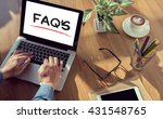 faqs frequently asked questions ... | Shutterstock . vector #431548765